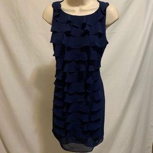 Adrianna Papell Dark Navy Midi Dress. Sz 4